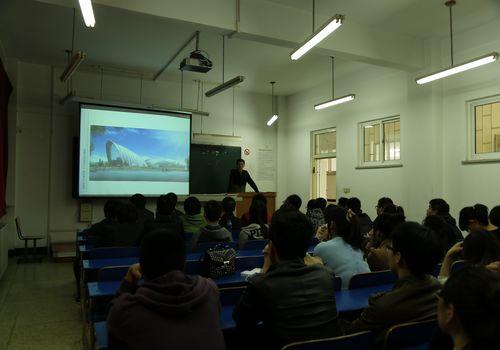 艺建学院在学校8号教学楼320教室举行辽宁中远建筑设计有限公司(沈阳